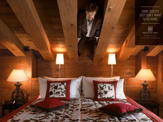 Swiss Deluxe Hotels Print Ad -  Hidden Guests, 5