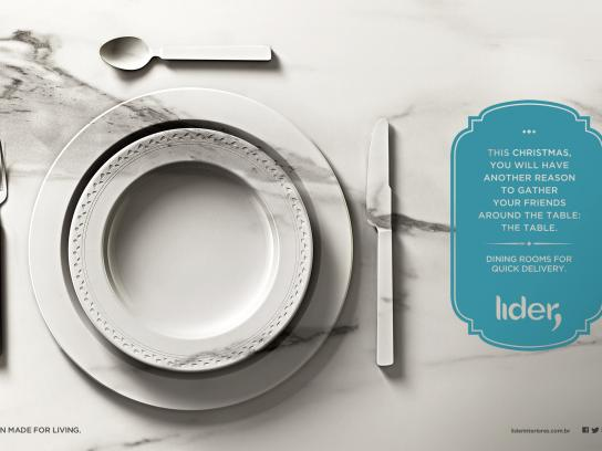 Lider Interiores Print Ad -  Table