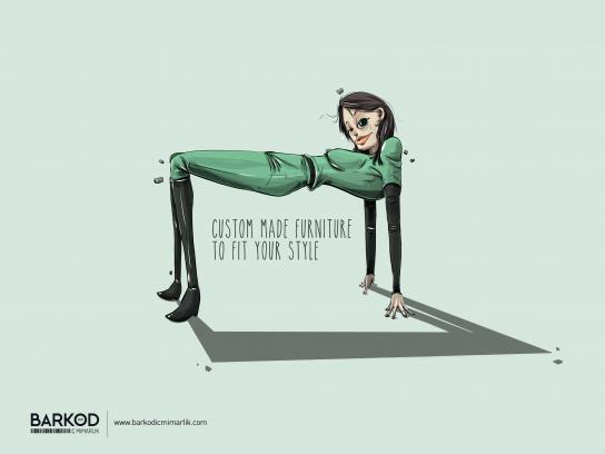 Barkod İç Mimarlık Print Ad - Table