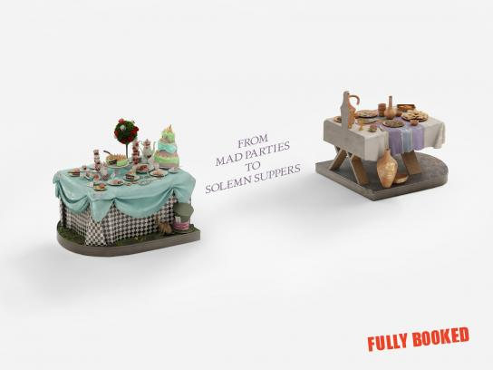 Fully Booked Print Ad -  Table