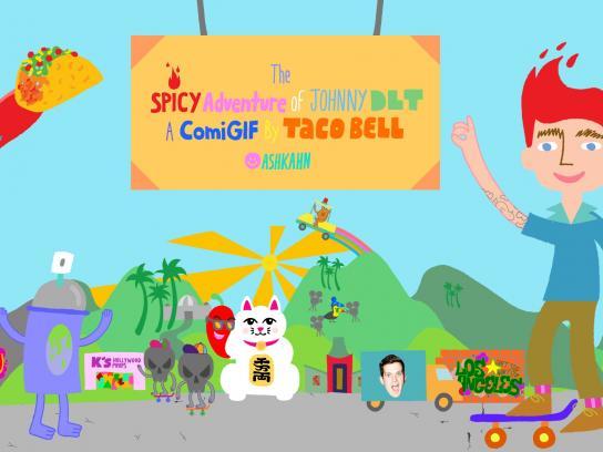 Taco Bell Digital Ad -  Comigif