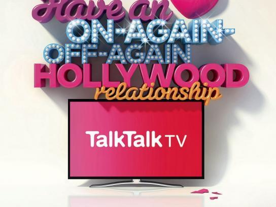 TalkTalk TV Print Ad -  Hollywood