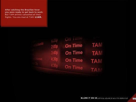 TAM Airlines Print Ad -  Blame it on us, 2