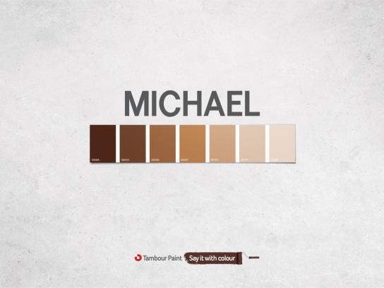 Tambour Paint Print Ad -  Michael