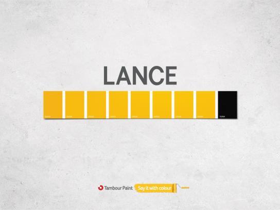 Tambour Paint Print Ad -  Lance