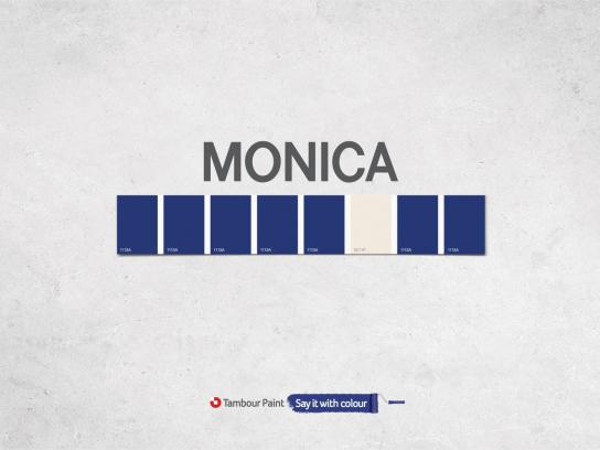 Tambour Paint Print Ad -  Monica