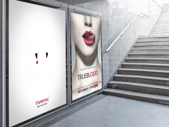 Tampax Outdoor Ad -  True Blood