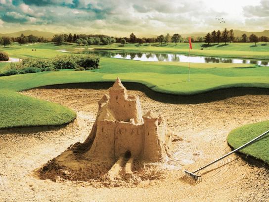 Audi Print Ad -  Sand castle