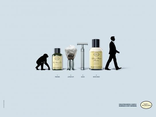 The Art of Shaving Print Ad -  Evolution