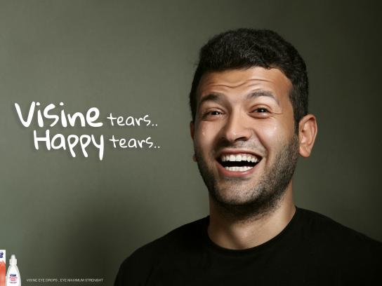 Visine Print Ad - Happy Tears - Tarek