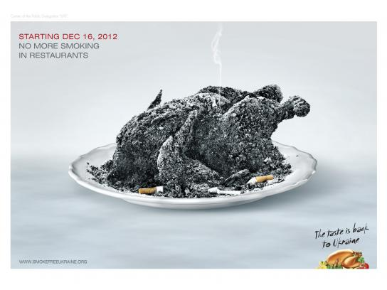 smokefreeukraine Print Ad -  The taste is back to Ukraine