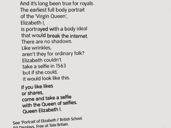 Tate Britain Outdoor Ad -  Portrait of Elizabeth