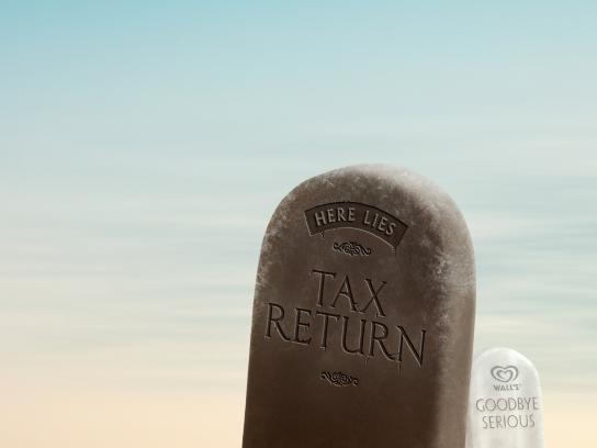 Wall's Print Ad -  Tax return