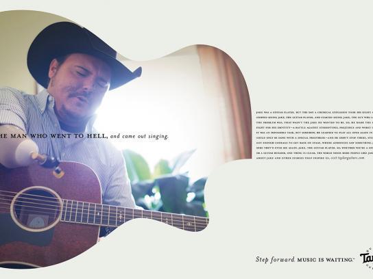 Taylor Guitars Print Ad -  Step forward, 1