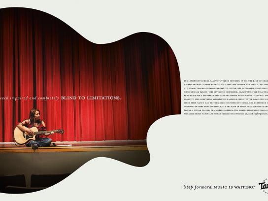 Taylor Guitars Print Ad -  Step forward, 2