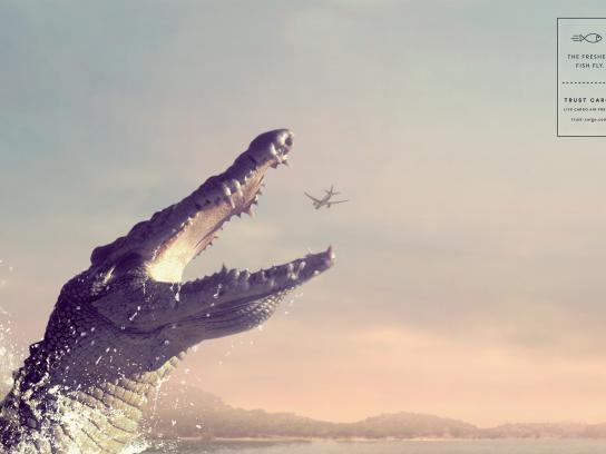 Trust Cargo International Print Ad - Crocodile