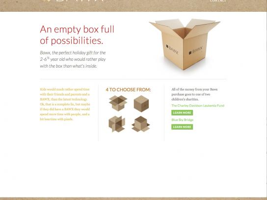 BAWX Digital Ad -  An empty box full of possibilities