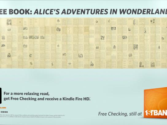 FirstBank Outdoor Ad -  Alice in Wonderland