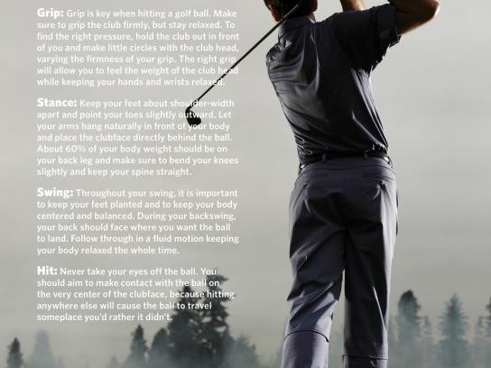 FirstBank Print Ad -  Golf Tips