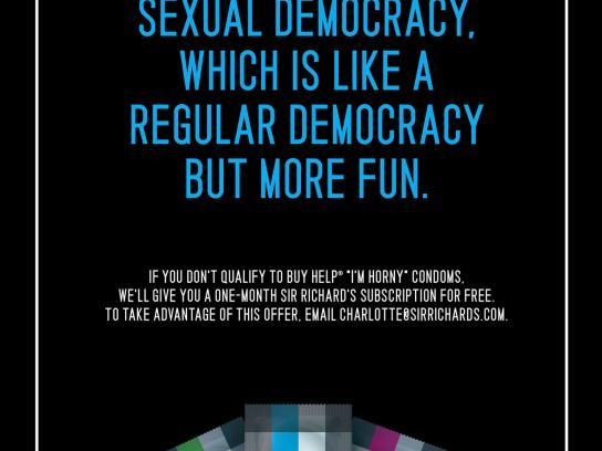 Sir Richard's Condoms Digital Ad -  Democracy