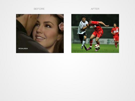 T-Diamond Print Ad -  Football Match