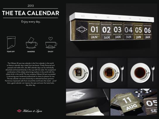Hälssen & Lyon Direct Ad -  Tea Calendar
