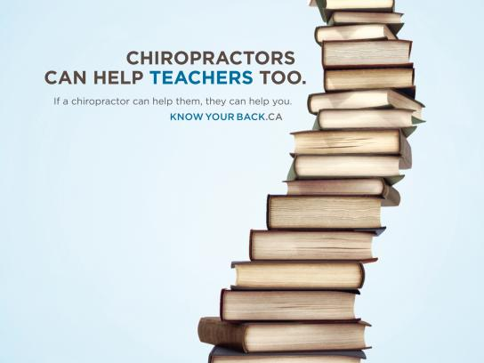 Council of the Nova Scotia College of Chiropractors Print Ad -  Teachers