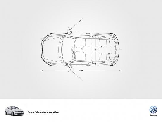 Volkswagen Print Ad -  Concept for new models with sunroof, 3
