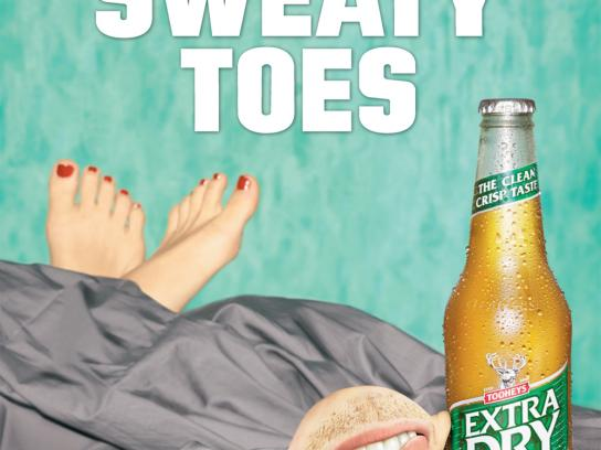 Tooheys Outdoor Ad -  Toes