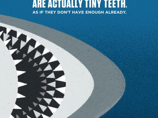 Vancouver Aquarium Print Ad -  Tiny teeth