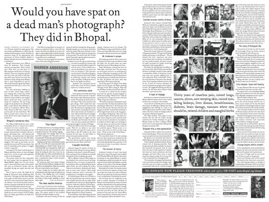 Bhopal Medical Appeal Print Ad -  Dead man