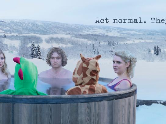 Telenor Print Ad -  Hot tub