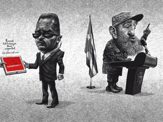 Telepizza Print Ad -  Fidel
