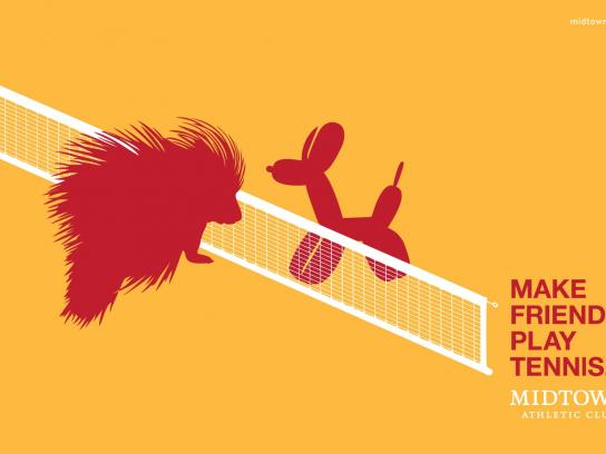 Midtown Athletic Club Print Ad -  Tennis, 2