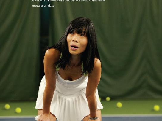 Canadian Breast Cancer Foundation Print Ad -  Tennis