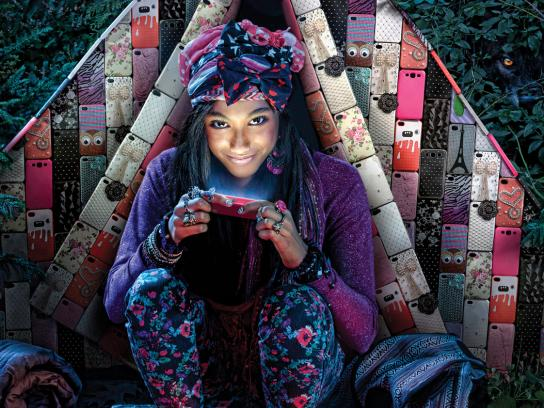Claire's Outdoor Ad -  Tent
