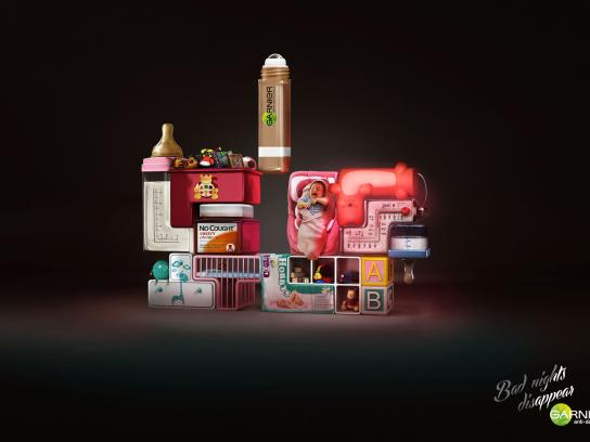 Garnier Print Ad -  Tetris Baby