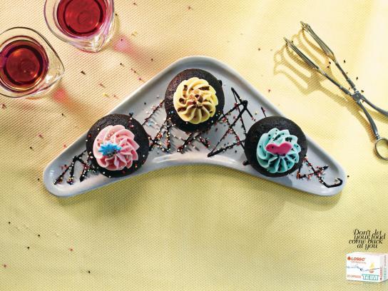 Losec Print Ad -  Cupcakes