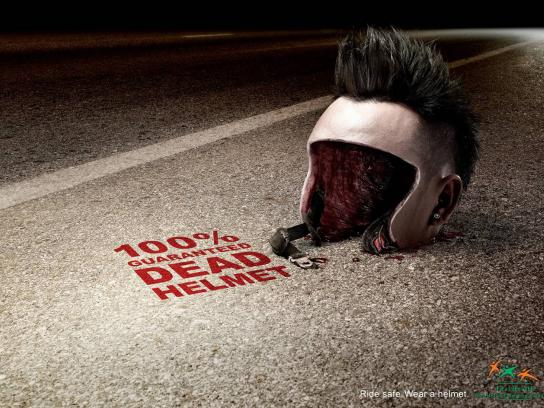Thai Health Promotion Foundation Print Ad -  Dead Helmet, 1