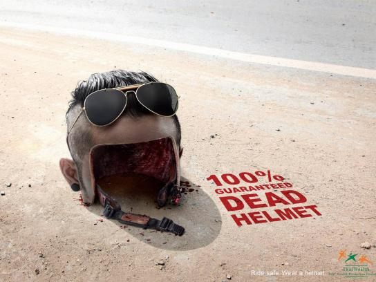 Thai Health Promotion Foundation Print Ad -  Dead Helmet, 2