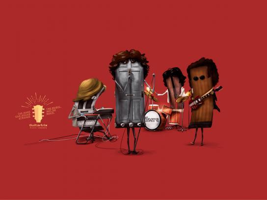 Guitartrix Print Ad - The Doors