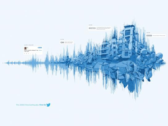 Twitter Print Ad -  The 2008 China Earthquake