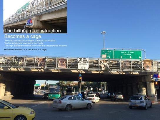 Herzelia Loves Animals Outdoor Ad -  The cage billboard