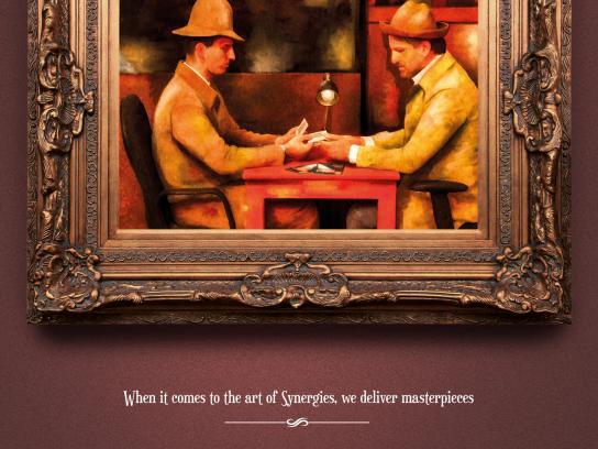 Athens International Airport Print Ad -  The card players by Paul Cezanne