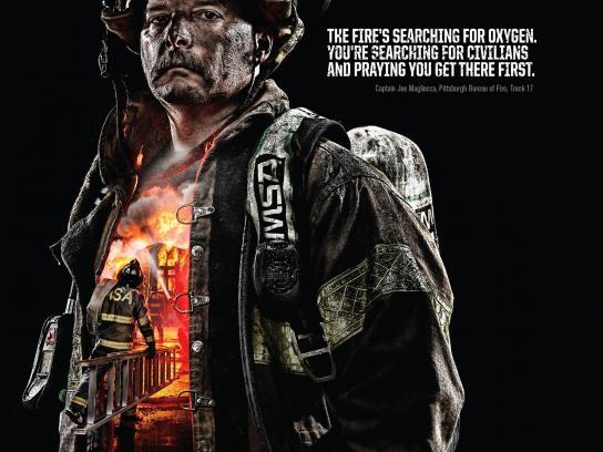 Mine Safety Appliances Print Ad -  The Fire Inside - Joe