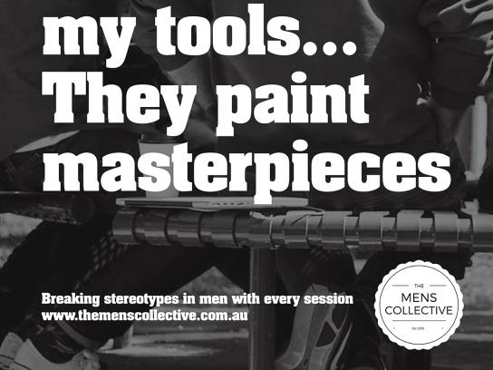The Mens Collective Outdoor Ad - I love my tools...