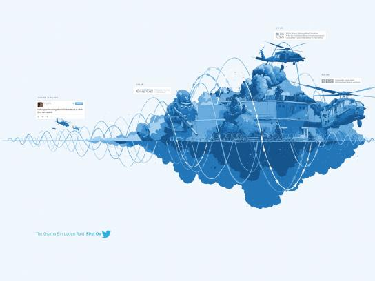 Twitter Print Ad -  The Osama Bin Laden Raid