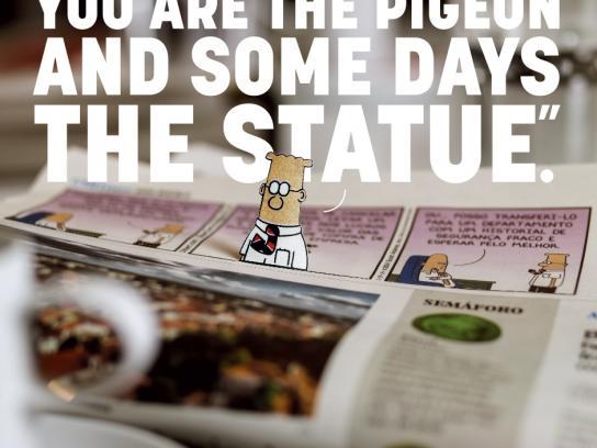 Jornal i Print Ad -  The Pigeon