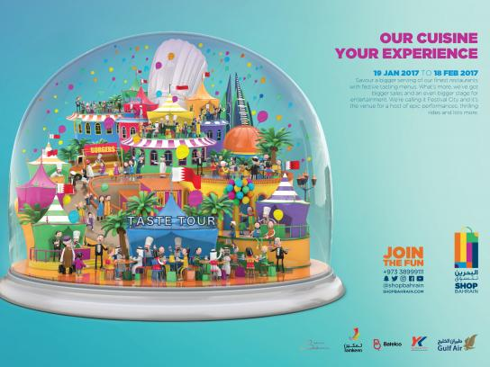 Bahrain Shopping Festival Print Ad - Taste tour