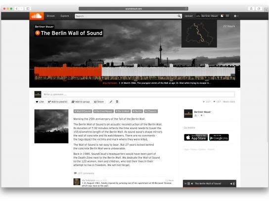 SoundCloud Digital Ad -  The Berlin Wall of Sound